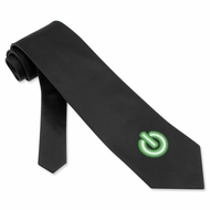 Power on Button Black Microfiber Tie Necktie � Men�s Geek Neck Tie