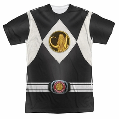 Power Ranger Shirt Black Ranger Costume Sublimation Shirt