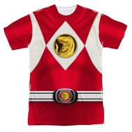 Power Ranger Shirt Red Ranger Costume Sublimation Shirt