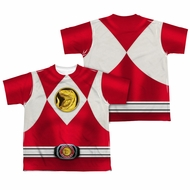 Power Ranger Shirt Red Ranger Costume Sublimation Youth Shirt