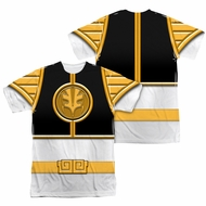 Power Ranger Shirt White Ranger Costume Sublimation Shirt Front/Back Print