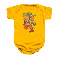 Power Rangers Baby Romper Charged Up Gold Infant Babies Creeper