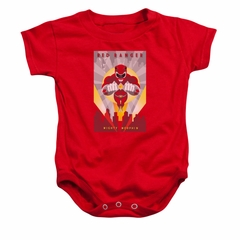 Power Rangers Baby Romper Red Ranger Red Infant Babies Creeper