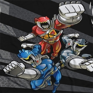 Power Rangers Flying Punches Sublimation Shirts