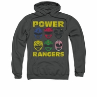 Power Rangers Hoodie Heads Charcoal Sweatshirt Hoody