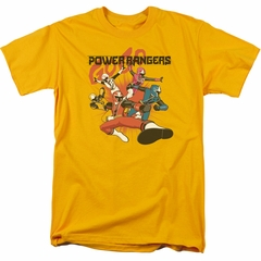 Power Rangers Ninja Steel Shirt Attack Gold T-Shirt
