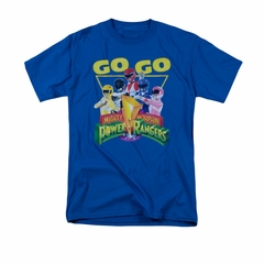 Power Rangers Shirt Go Go Royal Blue T-Shirt