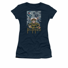 Power Rangers Shirt Juniors Rita Ranger Navy T-Shirt