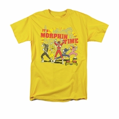Power Rangers Shirt Morphin Time Gold T-Shirt