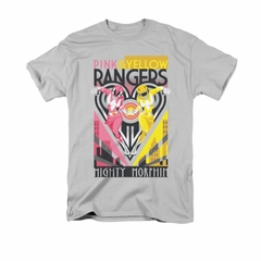 Power Rangers Shirt Pink And Yellow Ranger Silver T-Shirt
