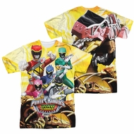 Power Rangers Shirt Posing Sublimation Shirt Front/Back Print