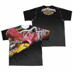 Power Rangers Shirt Red Zord Sublimation Youth Shirt