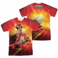Power Rangers Shirt Skating Sublimation Shirt Front/Back Print