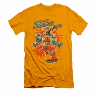 Power Rangers Shirt Slim Fit Charged Up Gold T-Shirt
