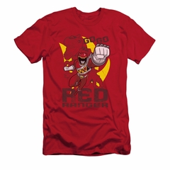 Power Rangers Shirt Slim Fit Go Red Red T-Shirt