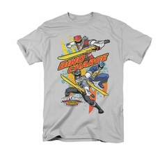 Power Rangers Shirt Swords Out Silver T-Shirt