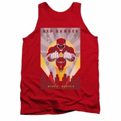 Power Rangers Shirt Tank Top Red Ranger Red Tanktop