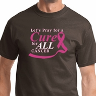 Pray for a Cure Mens Breast Cancer Awareness Shirts