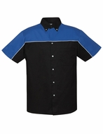 Premium Quality Shirt Mens Downshifter Sports Auto Racing Twill Shirt
