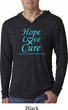 Prostate Cancer Hope Love Cure Lightweight Hoodie Tee