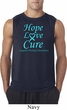 Prostate Cancer Hope Love Cure Sleeveless Shirt