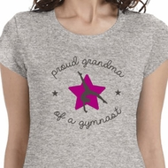 Proud Grandma Ladies Gymnastics Shirts