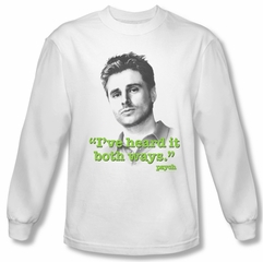 Psych Shirt Both Ways Long Sleeve White Adult Tee T-Shirt
