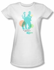 Psych Shirt Juniors Predict And Serve White Tee T-Shirt