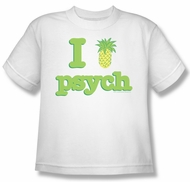 Psych Shirt Kids I Like Psych White Youth Tee T-Shirt
