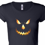 Pumpkin Head Ladies Halloween Shirts