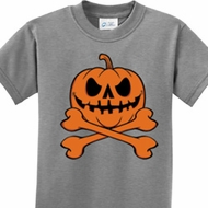 Pumpkin Skeleton Kids Halloween Shirts