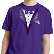 Purple Tuxedo Kids Moisture Wicking Shirt