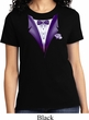 Purple Tuxedo Ladies Shirt