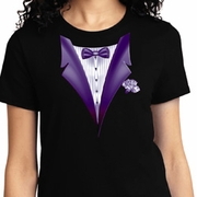 Purple Tuxedo Ladies Shirts