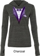 Purple Tuxedo Ladies Tri Blend Hoodie Shirt