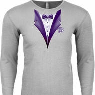 Purple Tuxedo Long Sleeve Thermal Shirt