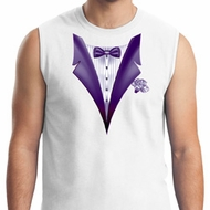 Purple Tuxedo Mens Muscle Shirt