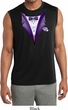 Purple Tuxedo Mens Sleeveless Moisture Wicking Shirt