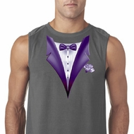 Purple Tuxedo Mens Sleeveless Shirt