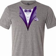 Purple Tuxedo Mens Tri Blend Crewneck Shirt
