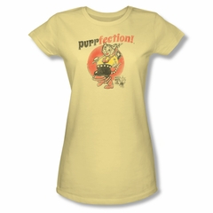 Puss N Boots Shirt Juniors Purrfection Banana T-Shirt