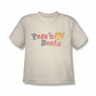 Puss N Boots Shirt Kids Logo Cream T-Shirt