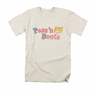 Puss N Boots Shirt Logo Cream T-Shirt
