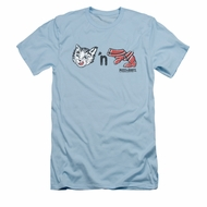 Puss N Boots Shirt Slim Fit Characters Light Blue T-Shirt