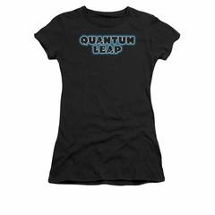 Quantum Leap Shirt Juniors Logo Black T-Shirt