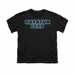 Quantum Leap Shirt Kids Logo Black T-Shirt