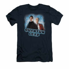 Quantum Leap Shirt Slim Fit Sam And Al Navy T-Shirt