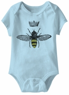 Queen Bee Funny Baby Romper Light Blue Infant Babies Creeper
