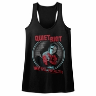 Quiet Riot Juniors Tank Top Metal Health Black Racerback