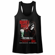 Quiet Riot Juniors Tank Top Rocking Out Concert Black Racerback